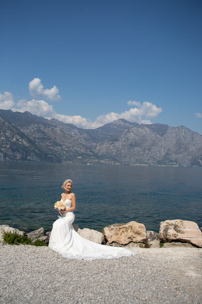 Jay sitting by Lake Garda