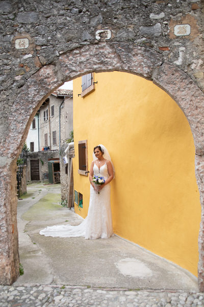 Serene Weddings Bride in Malcesine, Italy