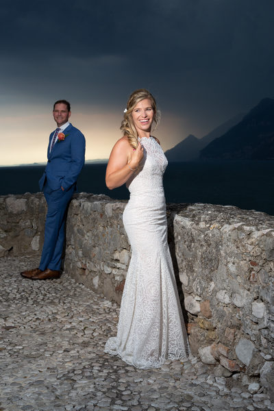 Striking symbolic weddings on Lake Garda