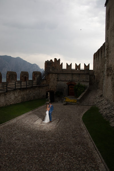 Dramatic Castle views at a Lake Garda Wedding.
