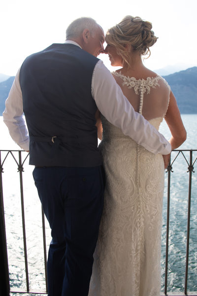 Caroline & Gus having a moment in Malcesine