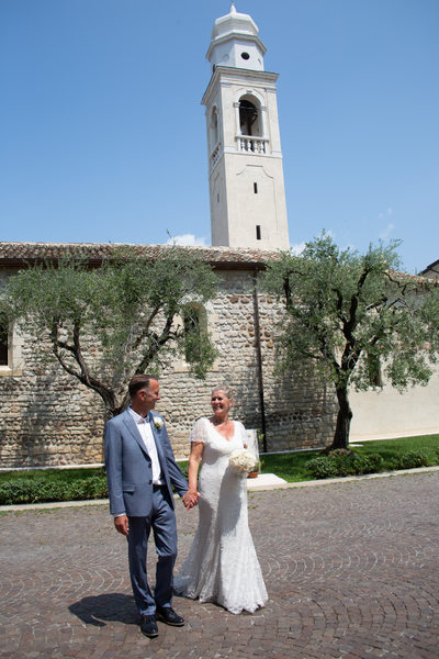 Bride and Groom by Lazise Church