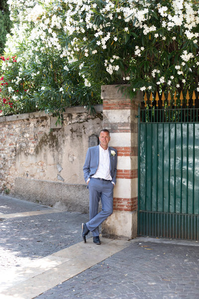 Groom by Jasmin Tree in Lazise