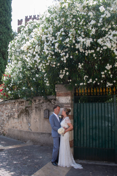 Bride and Groom by Jasmin Tree, Lazise, Italy.