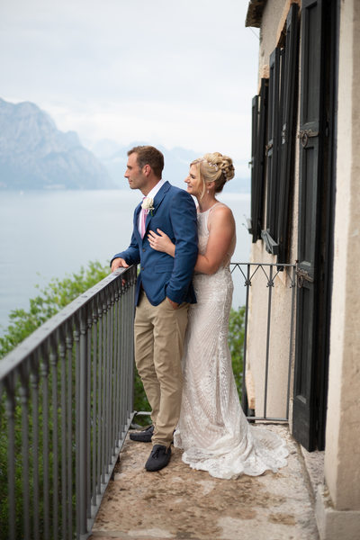 Adrian on Malcesine Balcony with Julia