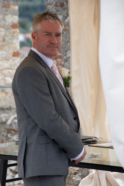 Jez waiting for his beautiful Bride, Malcesine