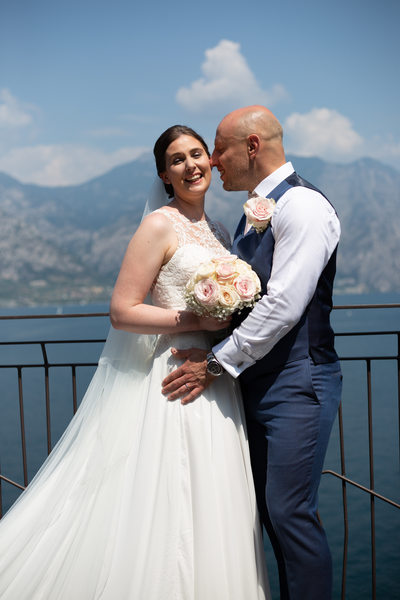 Penny and James, Stunning views from Malcesine Castle