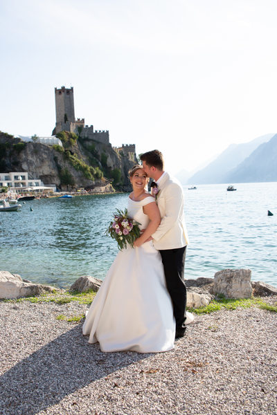 Roxanne and Anthony by the Lake, Malcesine Castle