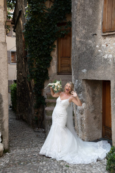 Lucy, fun and relaxed Malcesine Bride.