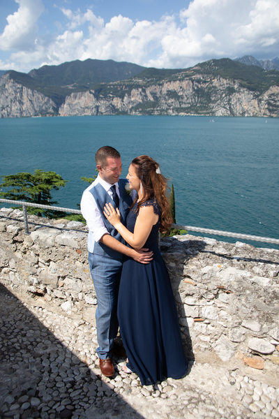 Love is in the air on the terrace of  Malcesine Castle