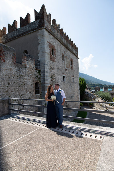 King and queen of the Castle of Malcesine on Lake Garda