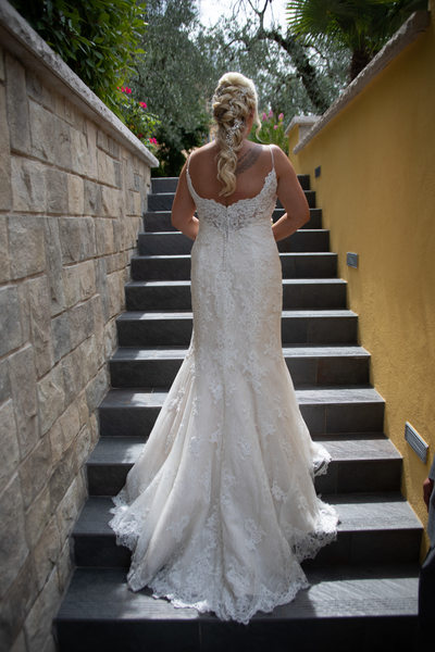 Gemma , Wedding Dress, Italy, Malcesine.