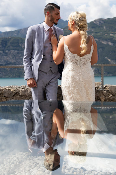 Gemma and Mark, Malcesine Castle, Italy