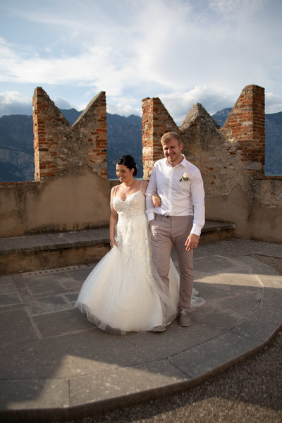 Malcesine Wedding Terrace 5pm Wedding