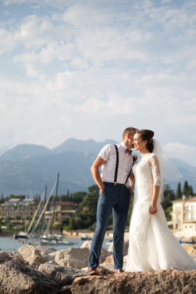 Lisa and Josh, Beach  Lake Garda, Malcesine