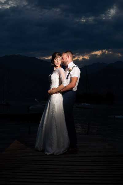 Lisa and Josh, Night Photos  Lake Garda, Malcesine