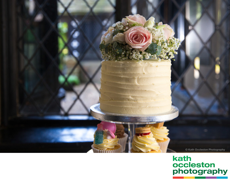Wedding cake at Samlesbury Hall