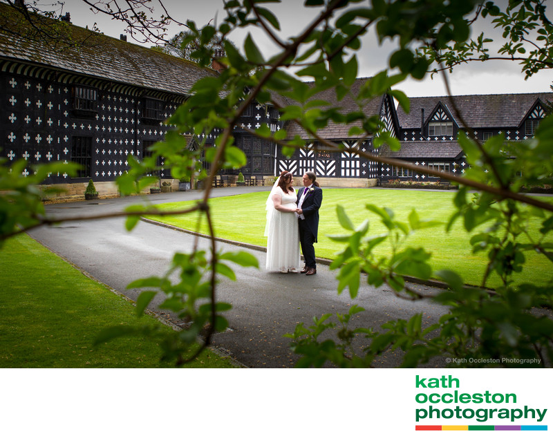 Bride & Groom at Samlesbury Hall