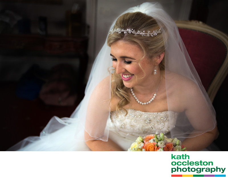 Bridal Portrait at Farington Lodge Hotel