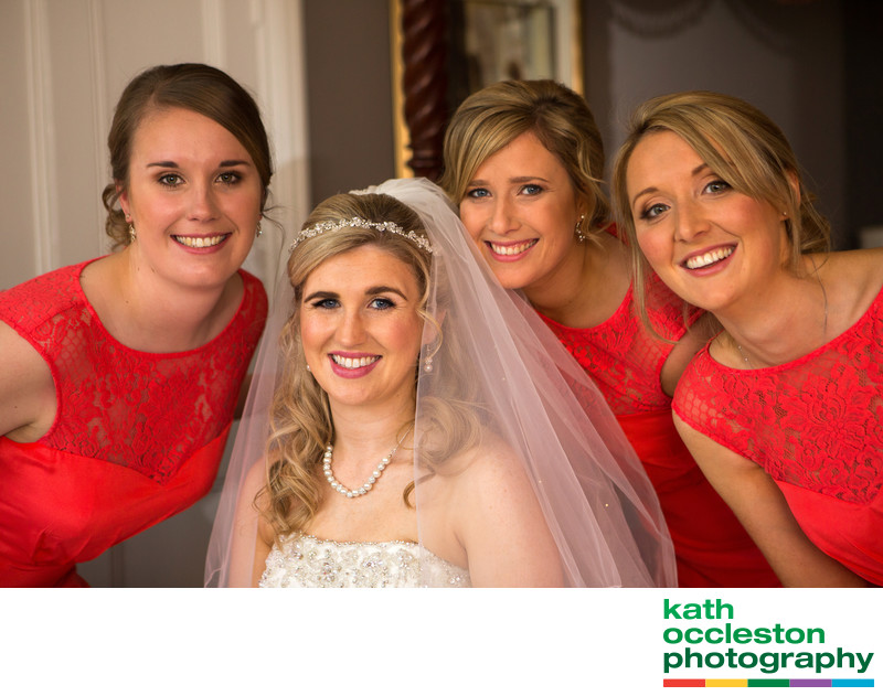 Bride & Bridesmaids at Farington Lodge