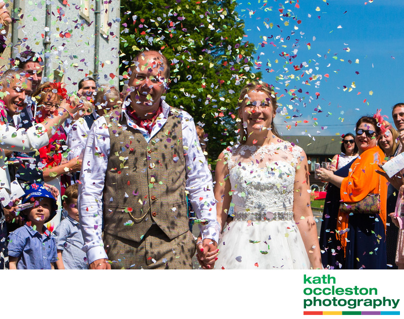 Confetti at Waddow Hall