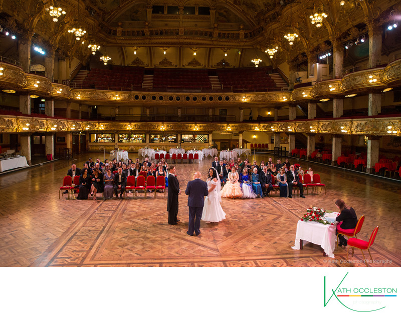 Blackpool Tower Ballroom_Wedding ceremony_photography