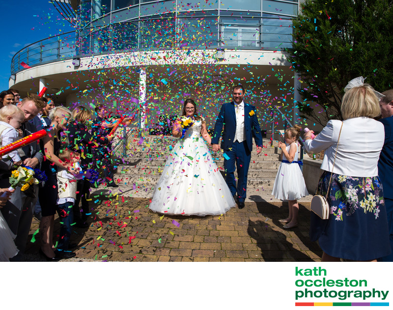 Confetti photo at The Ramada Plaza Southport