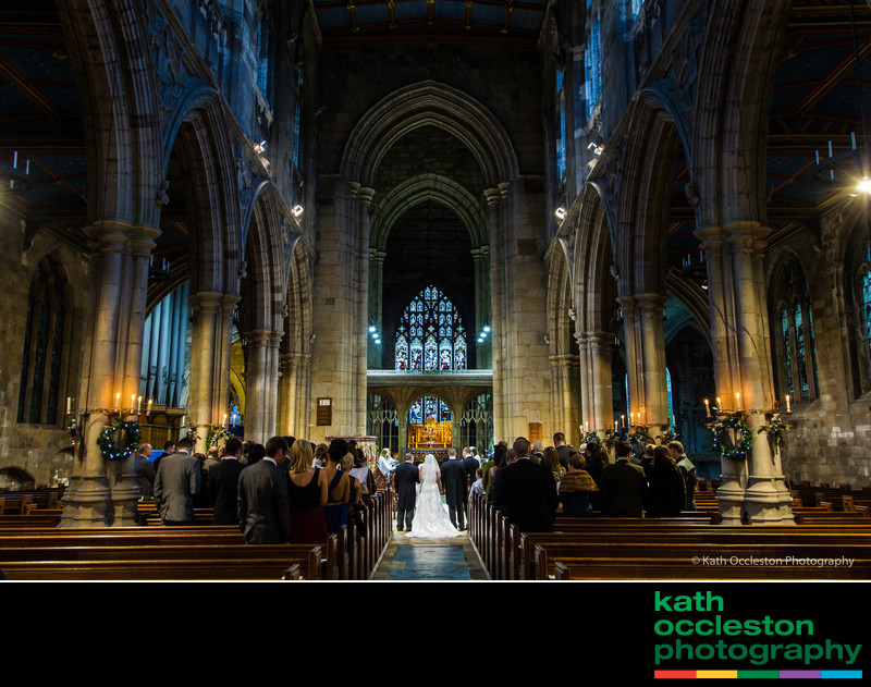Wedding in St Mary's Church, Beverley
