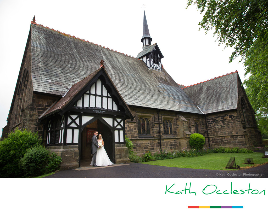Wedding photography at St Peter's Church, Salesbury