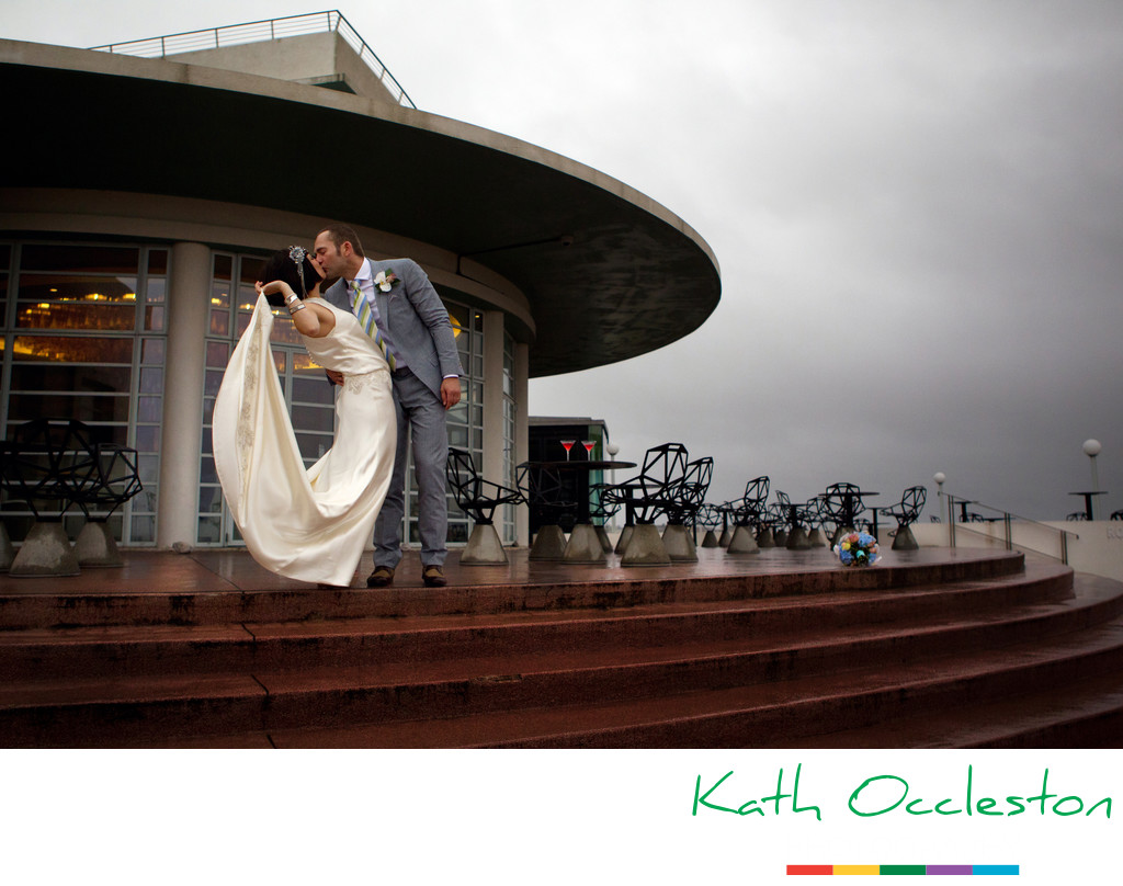 Dramatic Wedding photography at The Midland Hotel, Morecambe