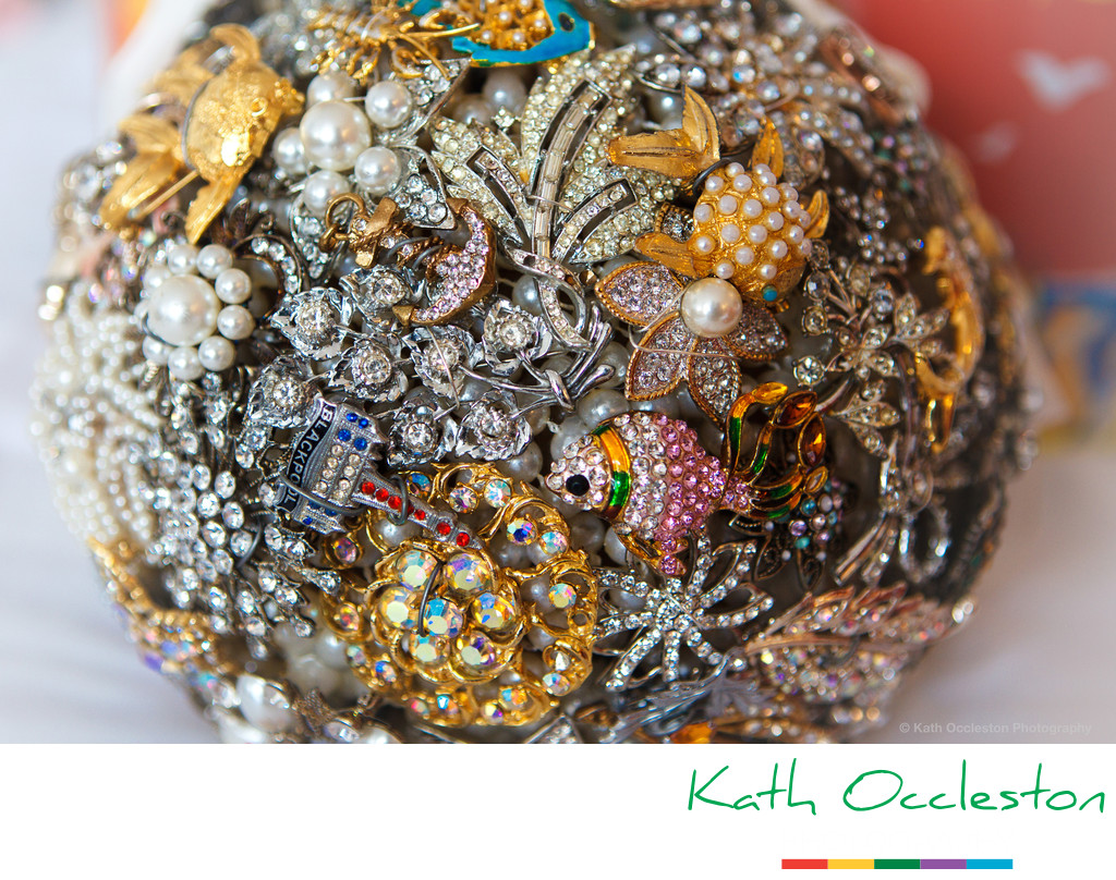 Hand made brooch bouquet