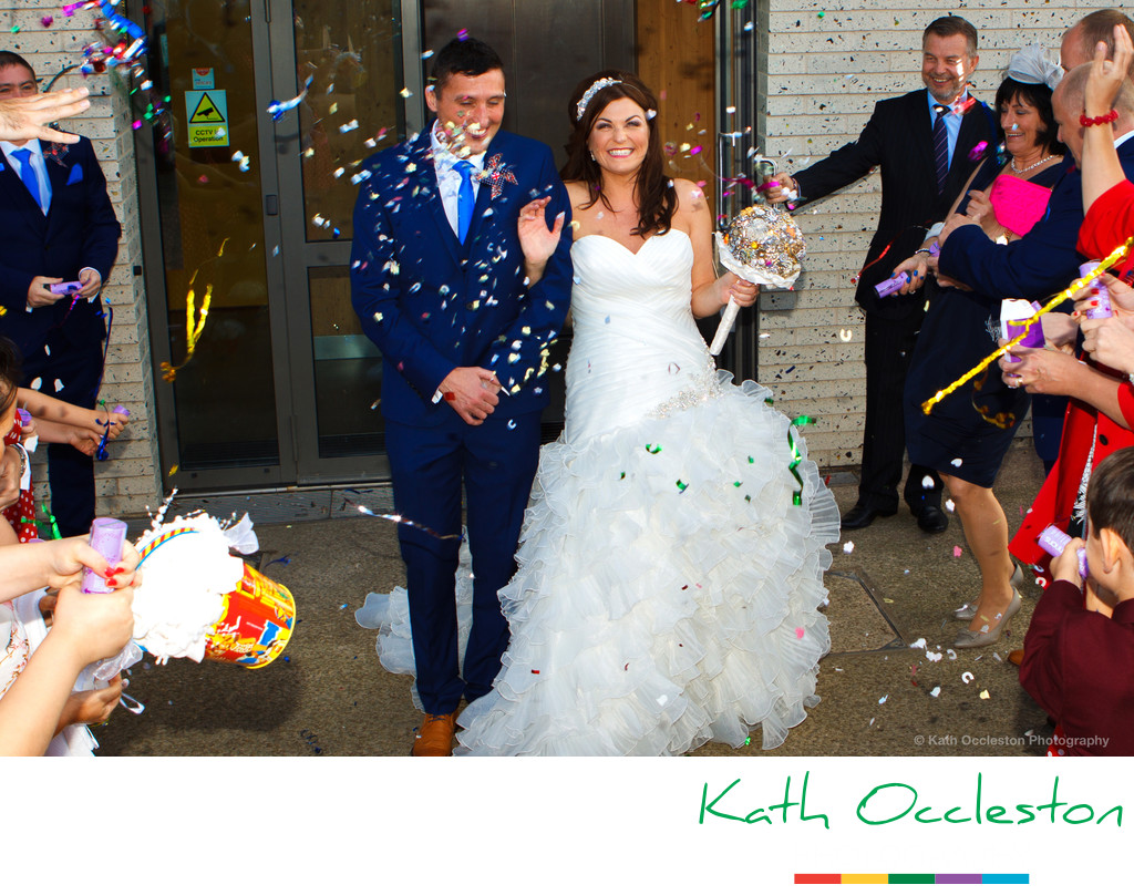 Confetti outside the Wedding Chapel, Blackpool