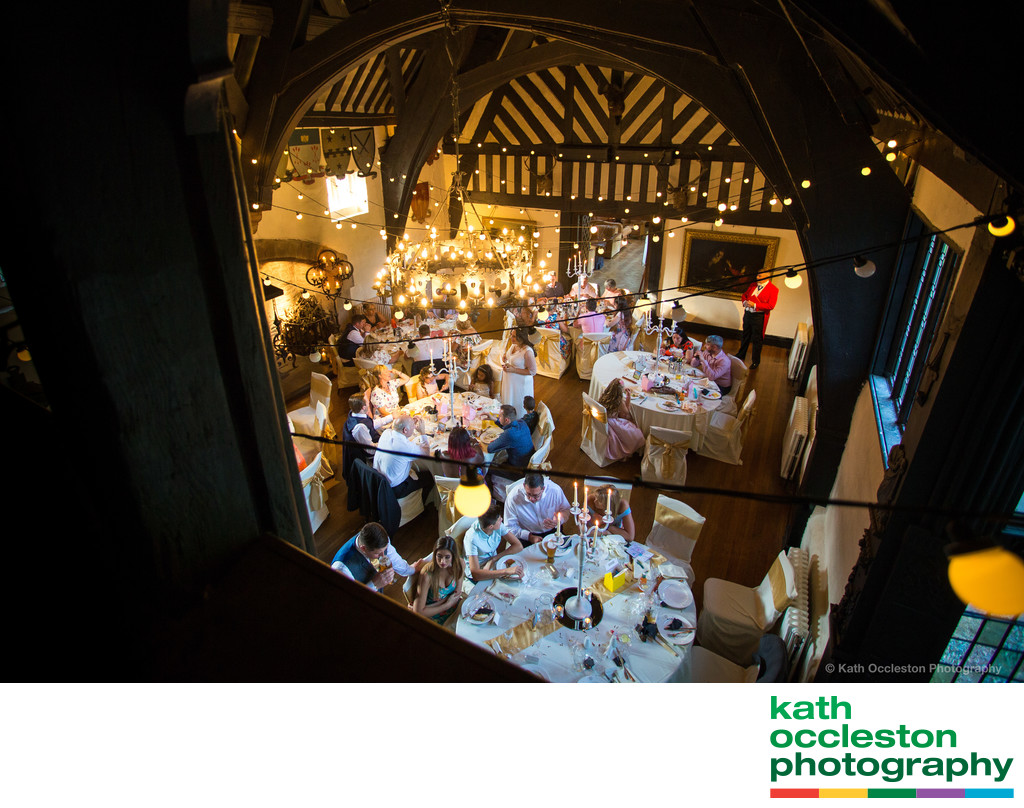 View from the gallery at Samlesbury Hall