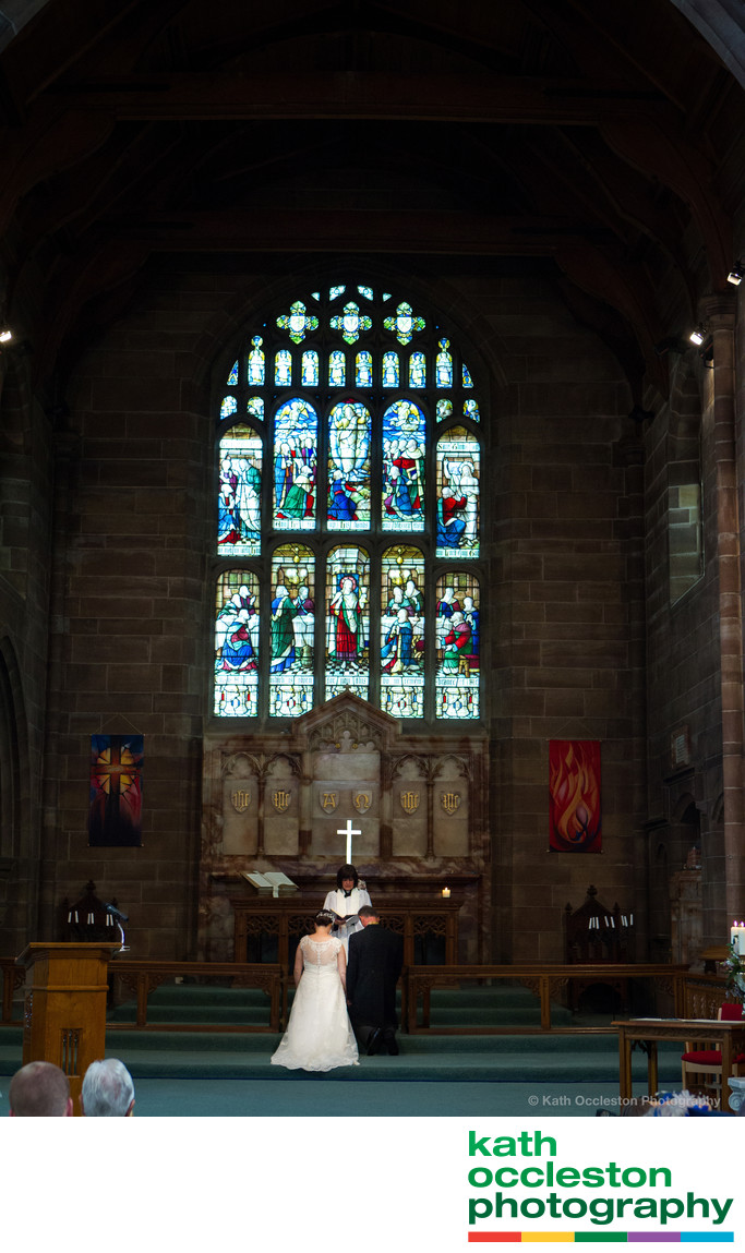 Church wedding photography