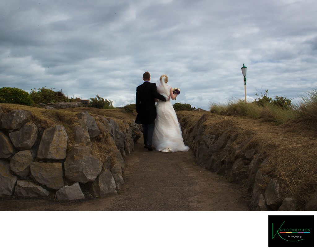 Wedding photography in St Annes rock garden