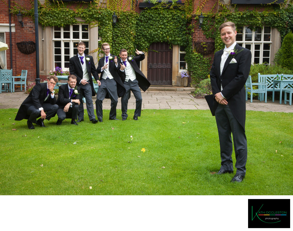 Groom and the ushers at The Villa, Wrea Green