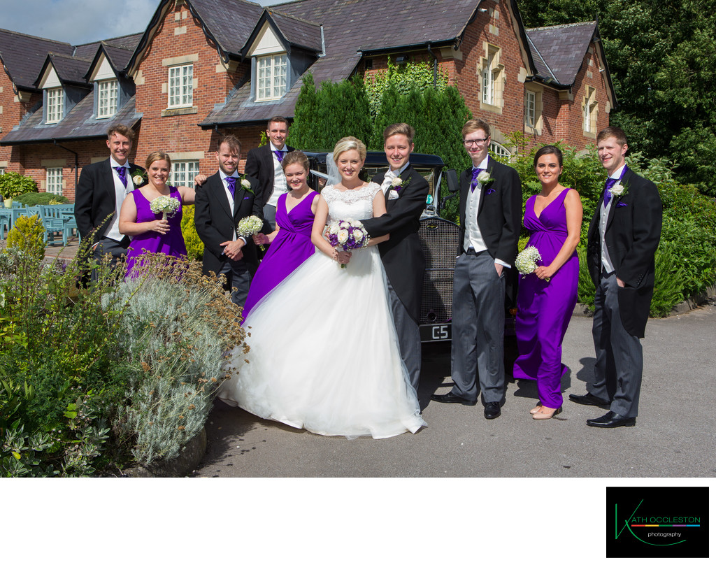 Bridesmaids & Ushers at the Villa, Wrea Green