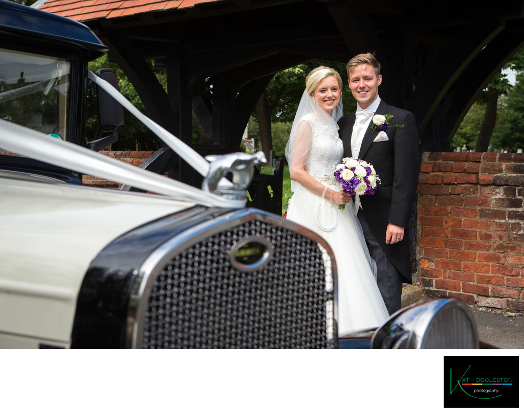 Bride & Groom at the Lychgate at St Annes Parish Church