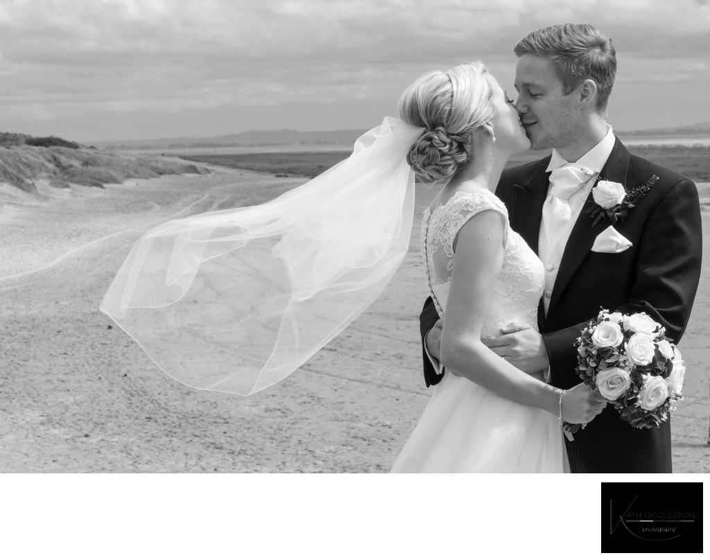 Wedding photography on St Annes promenade