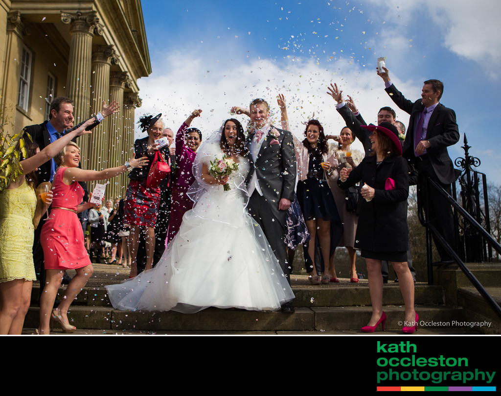 Wedding Confetti photograph at The Mansion House, Leeds