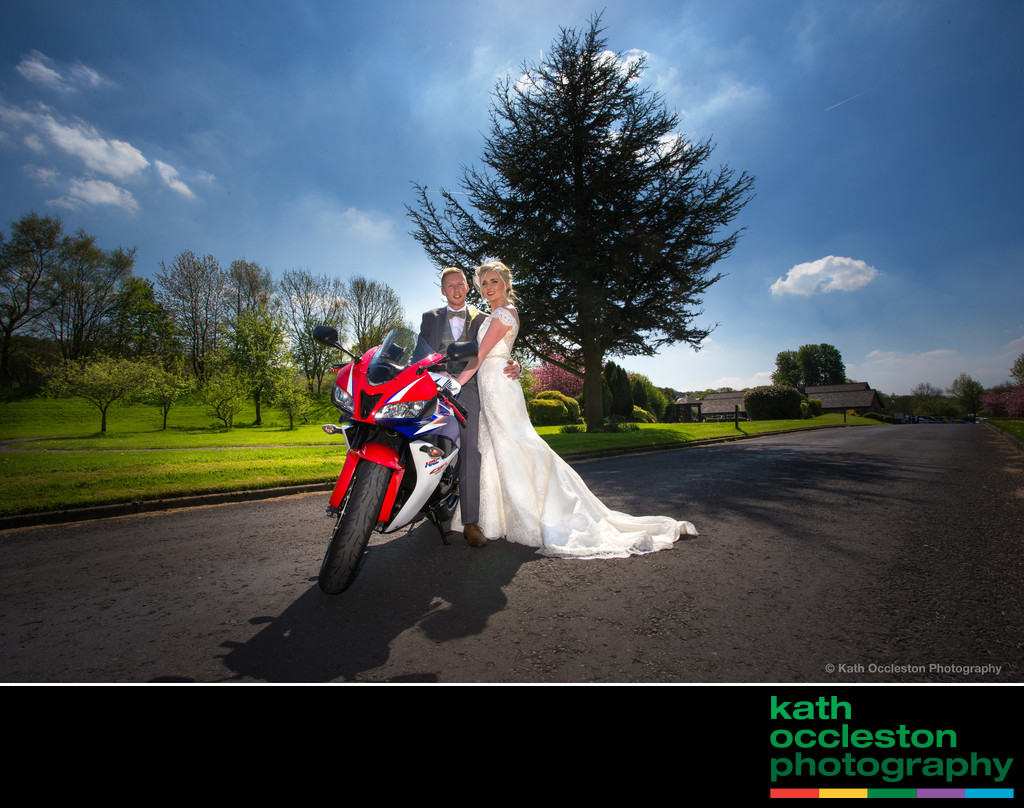 Dramatic wedding photography at Mytton Fold