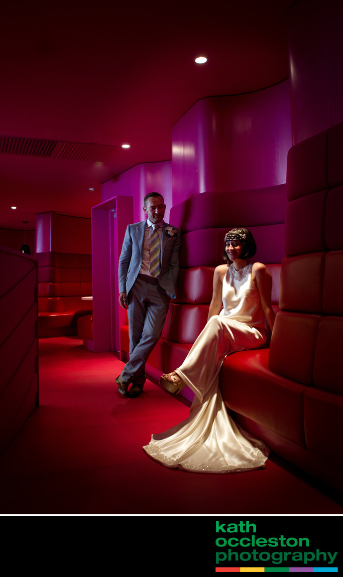 Wedding photography in the Rotunda Bar, Midland Hotel
