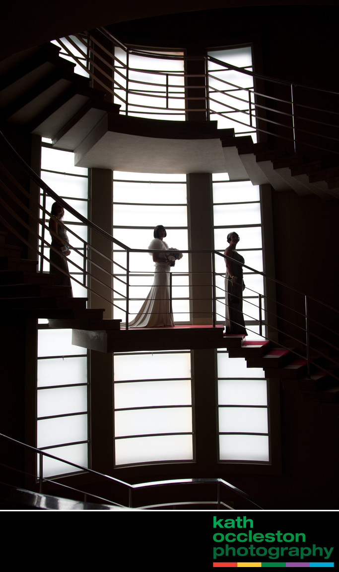 The Midland Hotel wedding photography staircase