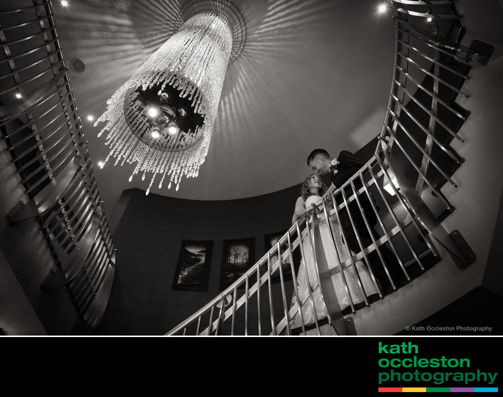 Staircase at Stanley House Wedding Photograph