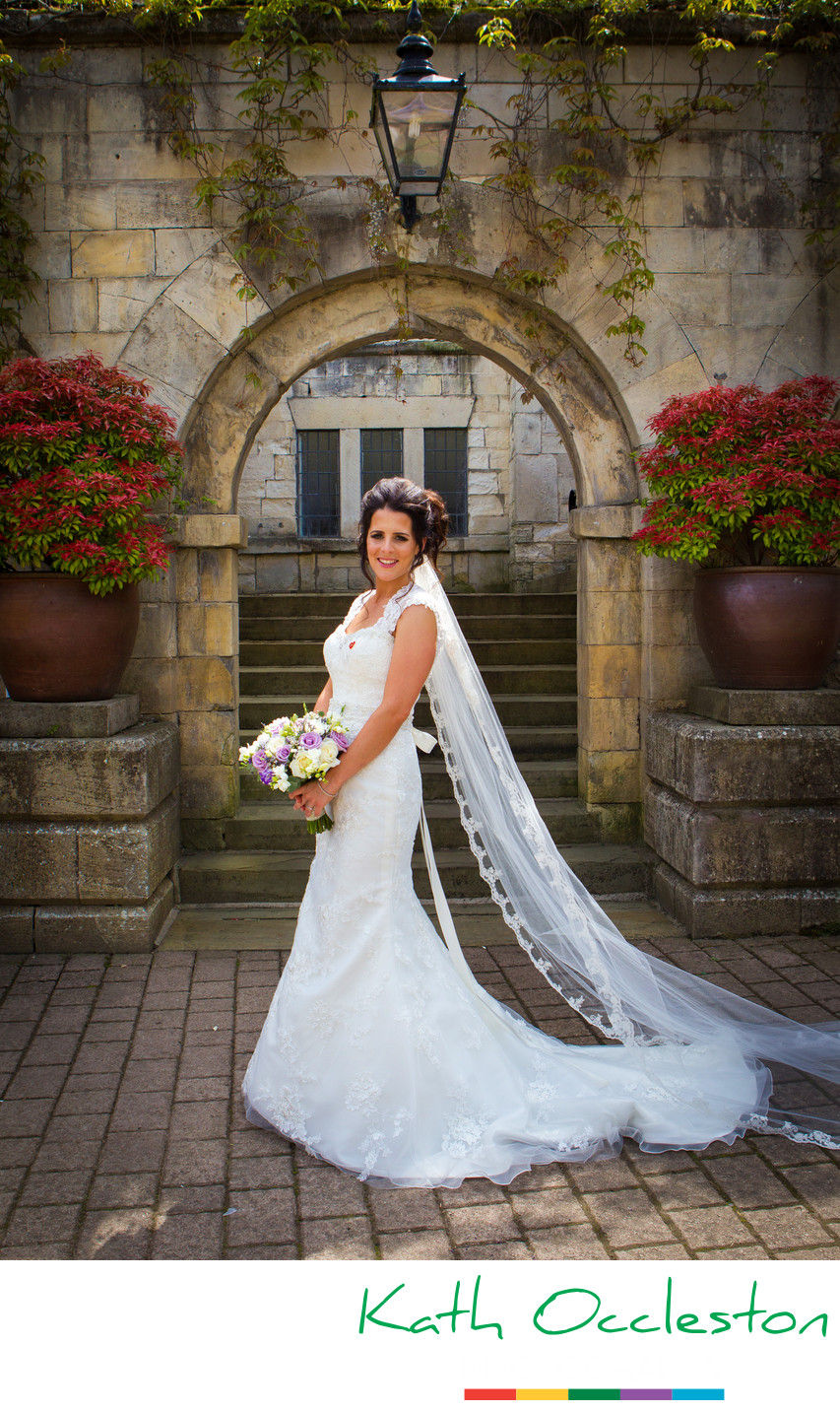 Beautiful Bridal photography at Hazlewood Castle
