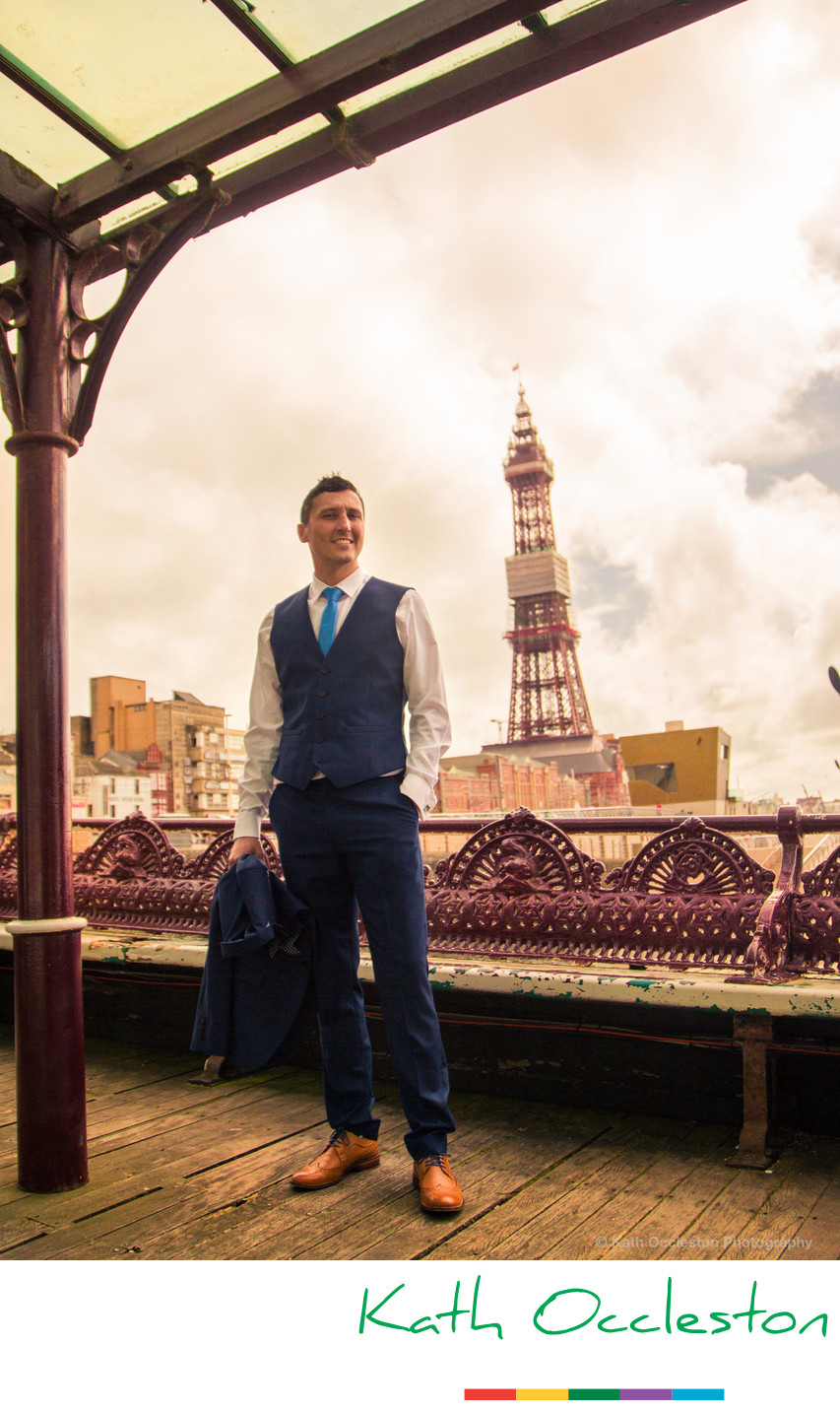 Groom on the Pier, Blackpool