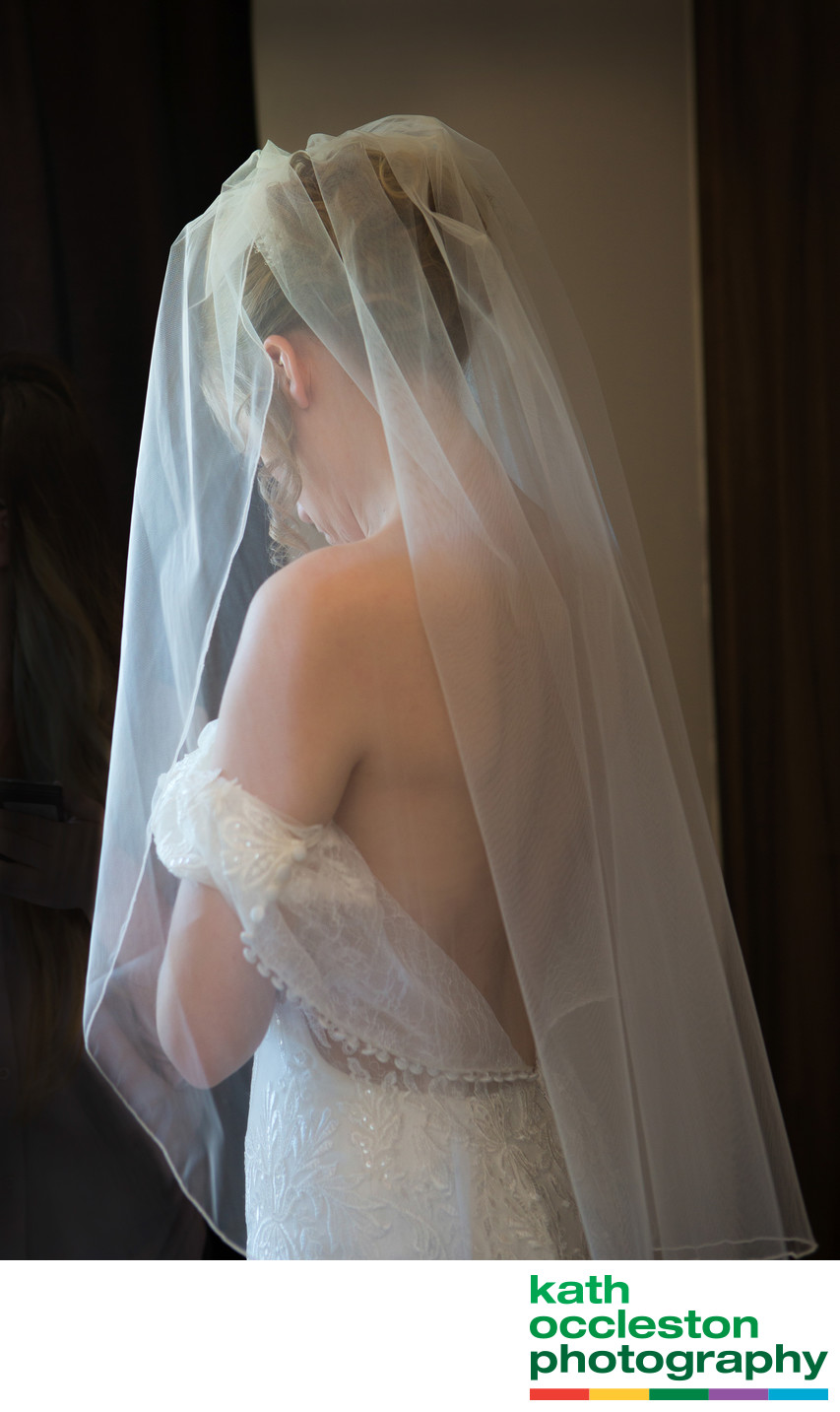 Natural wedding photography of bridal prep