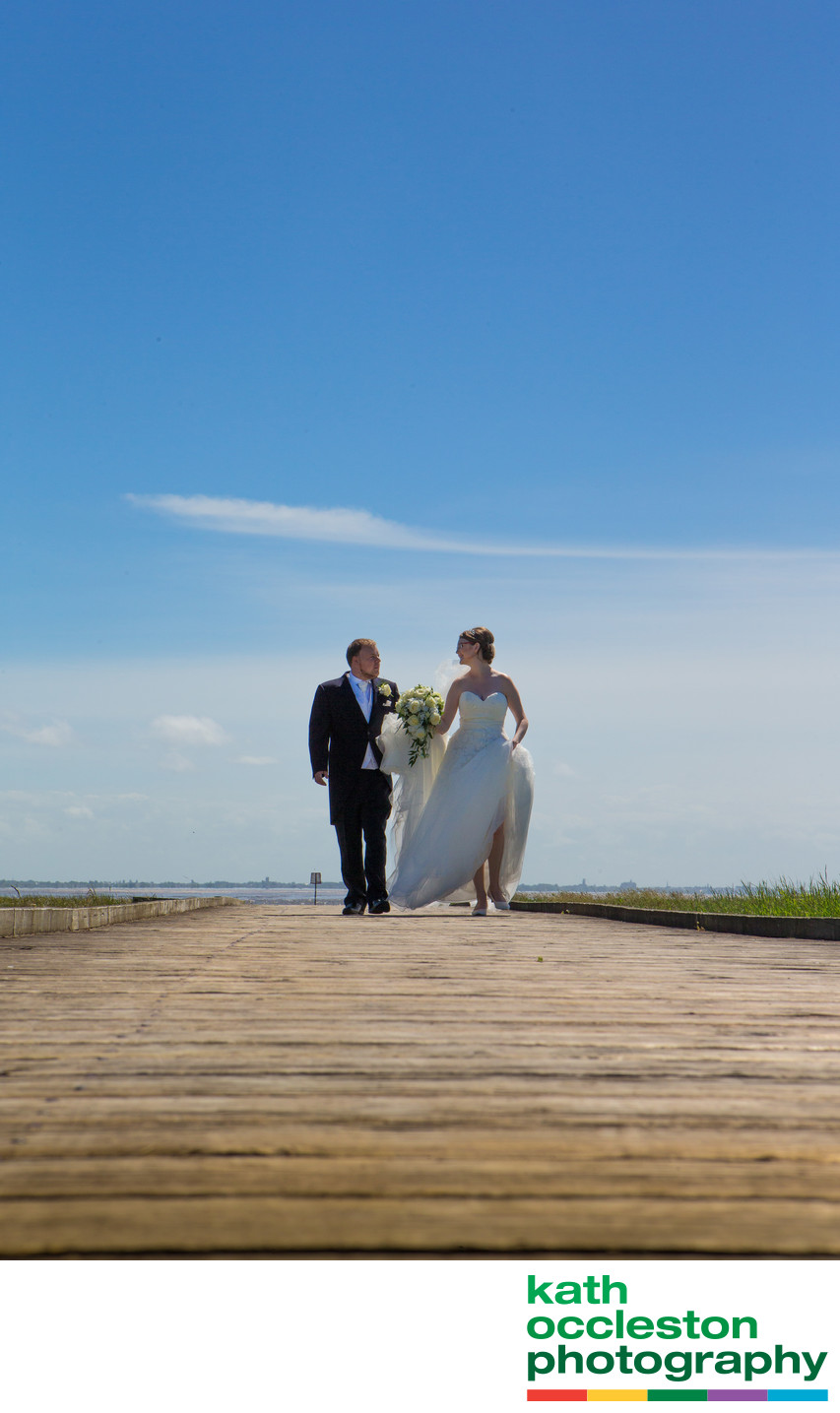 Bride & Groom on Lytham Jetty