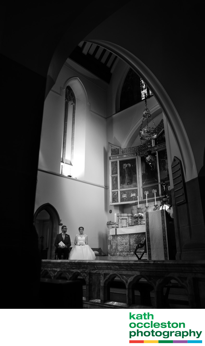Bride & Groom in the Church