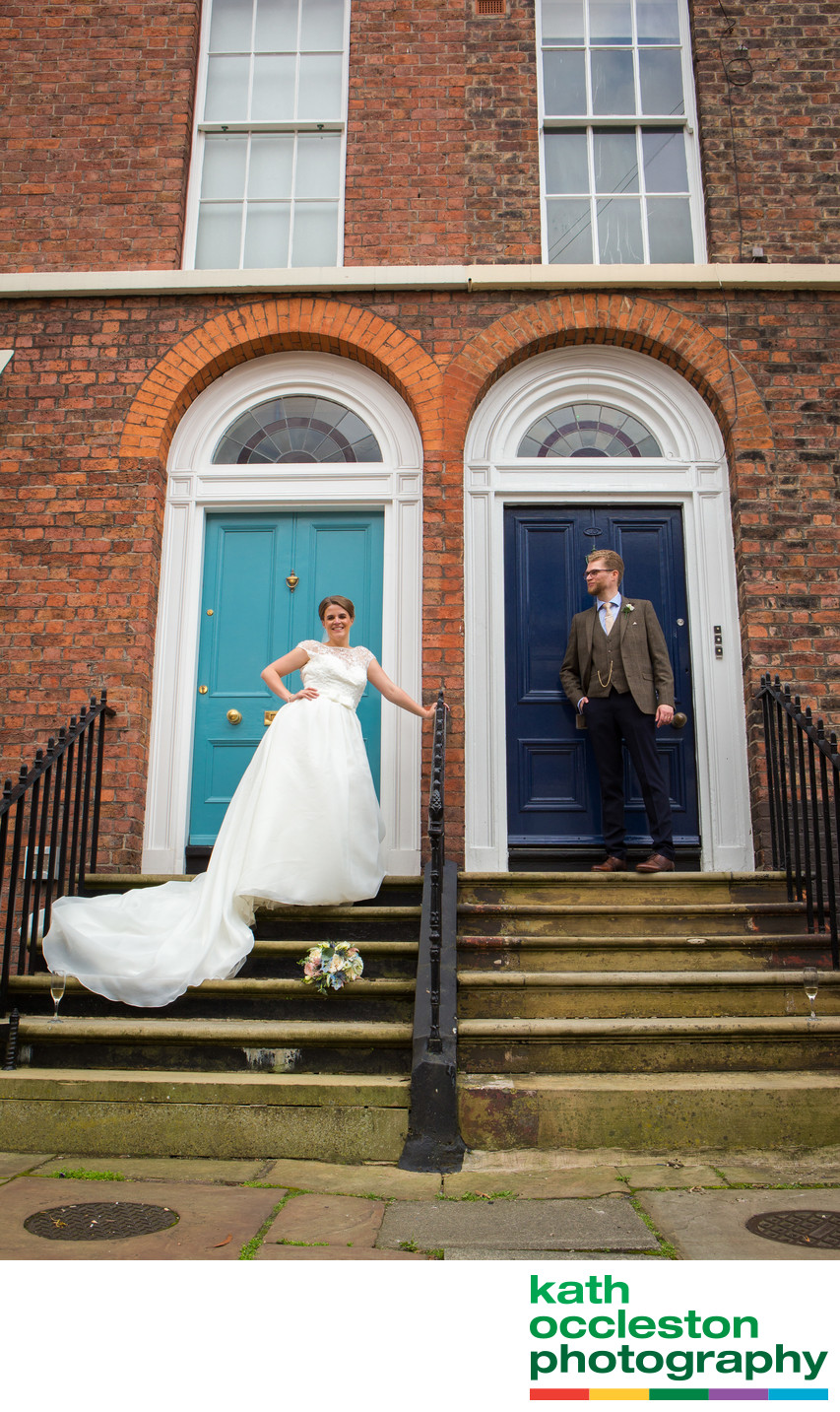 Urban wedding photography, Liverpool